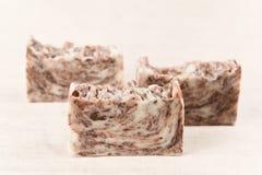 巧克力手工制造肥皂 图库摄影