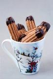 巧克力手指曲奇饼 免版税库存照片