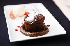 巧克力方旦糖 免版税库存照片