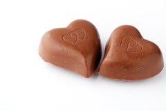 巧克力日重点s华伦泰 免版税库存图片