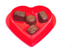 巧克力日s华伦泰 免版税库存图片