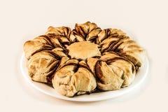巧克力星面包蛋糕饼 库存照片