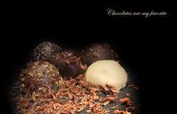 巧克力是我的喜爱 免版税库存照片