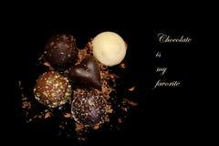 巧克力是我的喜爱 免版税库存图片