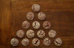 巧克力曲奇饼三角 免版税图库摄影