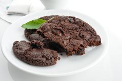 巧克力曲奇饼三 图库摄影