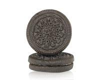 巧克力曲奇饼和奶油 免版税库存图片