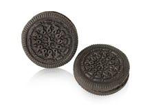巧克力曲奇饼和奶油 免版税图库摄影