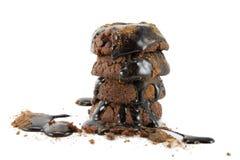 巧克力曲奇饼和顶部 免版税库存照片