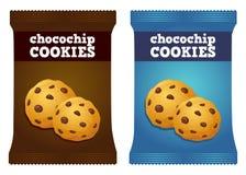 巧克力曲奇饼快餐包装的传染媒介 库存照片