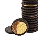 巧克力曲奇饼用奶油 库存照片