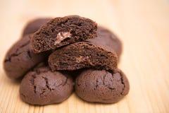 巧克力曲奇饼用姜和桔子 免版税库存照片
