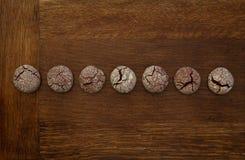 巧克力曲奇饼线 免版税库存图片