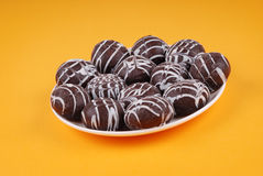 巧克力曲奇饼釉 免版税图库摄影