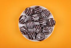 巧克力曲奇饼釉 库存照片