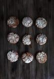 巧克力曲奇饼 免版税库存照片