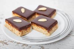 巧克力杏仁蛋糕 免版税库存照片