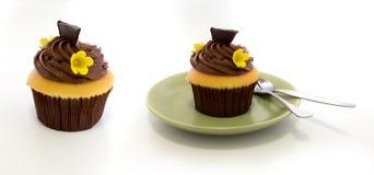 巧克力杯子蛋糕 库存图片