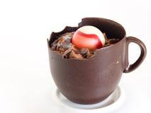 巧克力杯子 免版税库存图片
