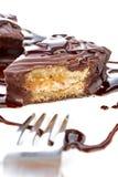 巧克力杯形蛋糕糖浆 免版税库存照片