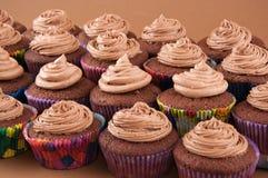 巧克力杯形蛋糕 库存照片