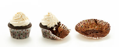 巧克力杯蛋糕 免版税库存图片