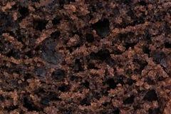 巧克力松饼特写镜头 图库摄影