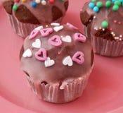 巧克力松饼  免版税库存照片