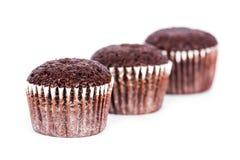 巧克力松饼 免版税库存图片