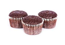 巧克力松饼 库存图片