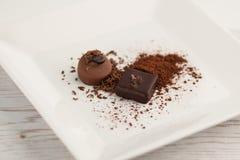 巧克力板材 免版税库存照片