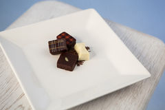 巧克力板材 库存图片