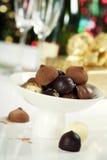 巧克力果仁糖和块菌 库存图片