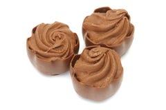 巧克力果仁糖 库存图片