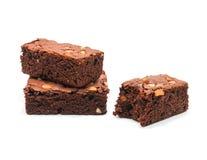 巧克力果仁巧克力用在白色背景的杏仁 库存照片