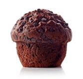 巧克力查出的松饼白色 图库摄影