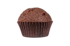 巧克力查出的松饼白色 库存照片