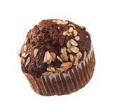 巧克力查出的松饼 免版税库存图片