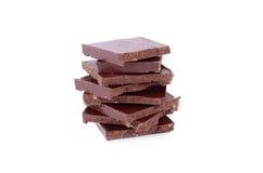 巧克力查出的白色 图库摄影