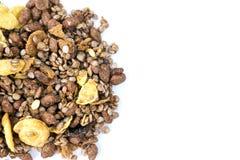 巧克力格兰诺拉麦片Muesli 免版税库存照片