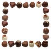 巧克力框架 免版税库存照片