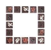 巧克力框架  免版税图库摄影