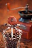 巧克力棒棒糖 库存图片