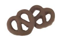 巧克力椒盐脆饼 免版税库存图片