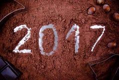 2017年巧克力概念 库存照片