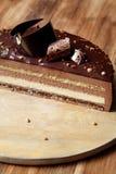巧克力榛子奶油甜点蛋糕 免版税库存照片