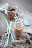 巧克力榛子牛奶 图库摄影