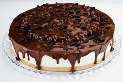 巧克力樱桃乳酪蛋糕 免版税库存图片