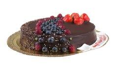 巧克力沫丝淋蛋糕 免版税库存照片