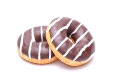 巧克力油炸圈饼 免版税库存图片